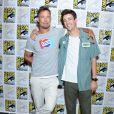 """Tom Cavanagh et Grant Gustin - """"The Flash"""" Press Line - 3ème jour - Comic-Con International 2019 au """"San Diego Convention Center"""" à San Diego, le 20 juillet 2019."""
