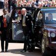Le prince Philip, duc d'Edimbourg - Les invités arrivent à la chapelle St. George pour le mariage du prince Harry et de Meghan Markle au château de Windsor, Royaume Uni, le 19 mai 2018.