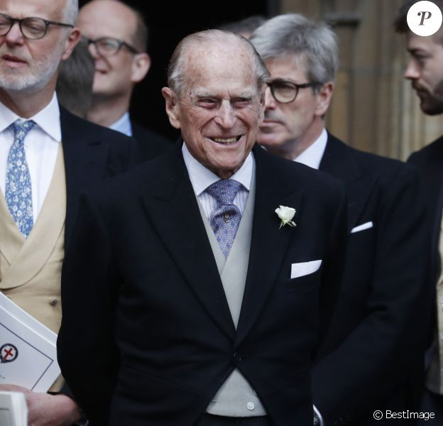 Le prince Philip, duc d'Edimbourg - Mariage de Lady Gabriella Windsor avec Thomas Kingston dans la chapelle Saint-Georges du château de Windsor le 18 mai 2019.