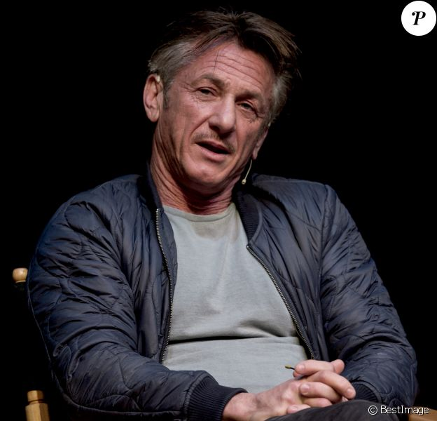 "Sean Penn discute de son premier roman, ""Bob Honey Who Do Stuff"", lors du Live Talks Los Angeles à Santa Monica, Californie, Etats-Unis, le 3 avril 2018."