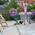 Exclusif - La tombe de Johnny Hallyday a été complètement néttoyée et redécorée à l'occasion du 77 ème anniversaire du chanteur au cimetière de Lorient à Saint-Barthélemy le 15 juin 2020.
