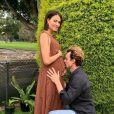Luke Cook et Kara Wilson attendent leur premier enfant à deux, un petit garçon. Le 13 juin 2020.