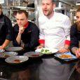 """Nastasia, Jean-Philippe, David Gallienne, Jordan et Mallory - Finale de """"Top Chef 2020"""", le 17 juin 2020 sur M6."""