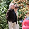 Michel Sardou et Anne-Marie Périer au mariage de Marion Ruggieri et de Paul Barrois, à Beaumont-sur-l'Osse, le 29/08/09.