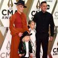 P!nk, son mari Carey Hart et leurs enfants Jameson Hart et Willow Hart - 53e édition des CMA Awards à Nashville dans le Tennessee, le 13 novembre 2019.