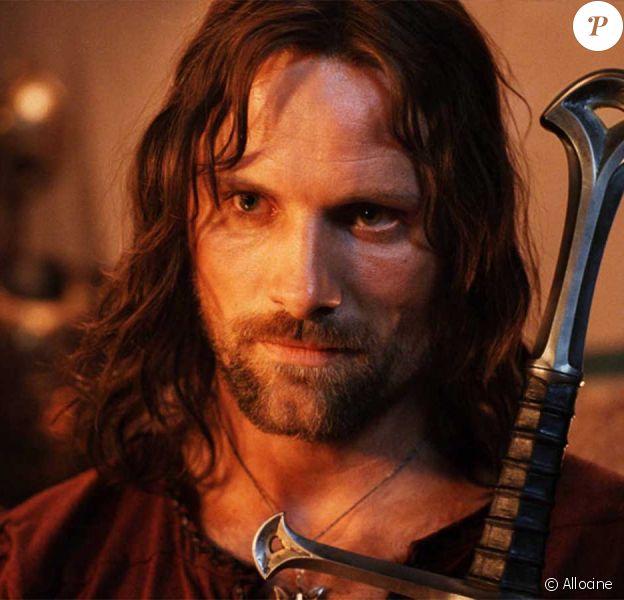 """Viggo Mortensen dans le film """"Le seigneur des anneaux : le retour du roi"""". 2003."""