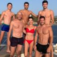 Zinédine Zidane pose avec sa femme Véronique et leurs quatre fils, Elyaz, Enzo, Théo et Luca au cours de vacances en famille à Ibiza. Instagram, le 5 juillet 2019.