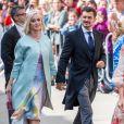 Katy Perry et son fiancé Orlando Bloom - Les invités arrivent au mariage de E. Goulding et C.Jopling en la cathédrale d'York, le 31 août 2019.
