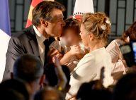 Christian Estrosi fête sa réélection à Nice avec Laura Tenoudji et leur fille