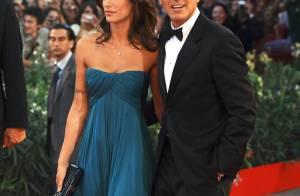 Le beau blessé George Clooney et son éblouissante Elisabetta ont mis la Mostra de Venise à leurs pieds !