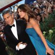 George Clooney et sa compagne Elisabetta Canalis arrivent pour la projection de  The Men Who Stare at Goats , le 8 septembre 2009 à la Mostra de Venise