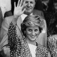 Lady Diana à Wimbledon le jour de son anniversaire, le 1er juillet 1987 (jour de ses 26 ans).