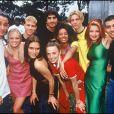 Archives - Les Spices Girls (Mel C, Emma Bunton, Victoria Beckham, Geri Halliwell et Melanie Brown) avec les Backstreet Boys. 1996.