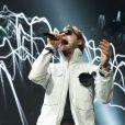 Kasabian en concert à l'O2 Arena de Londres, le 14 décembre 2011. Ici le chanteur Tom Meighan.