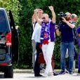 Franck Ribéry lors de son arrivée à Florence le 21 août 2019. Photo by Claudio Giovannini/ANSA/ABACAPRESS.COM