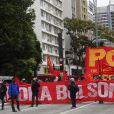 Manifestation contre le président Jair Bolsonaro et sa politique contre le coronavirus. Sao Paulo, le 28 juin 2020.