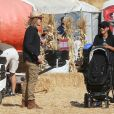 Naya Rivera et son mari Ryan Dorsey passe la journée avec leur fils Josey Hollis Dorsey au Underwood family Farms à Moorpark, le 14 octobre 2017
