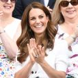 Catherine (Kate) Middleton, duchesse de Cambridge, au Tournoi de tennis de Wimbledon 2019 à Londres, Royaume Uni, le 2 juillet 2019.