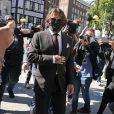 Johnny Depp arrive au tribunal le quatrième jour du procès contre le journal The sun à Londres le 10 juillet 2020