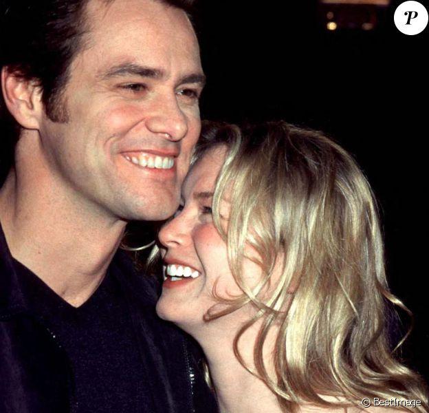 """Renée Zellweger et Jim Carrey - Première du film """"Man on the moon"""". Los Angeles. Le 21 décembre 1999."""