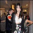 Daisy Lowe à la nuit de la mode à Londres le 10/10/09