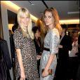 Natalia Vodianova et Claudia Schiffer à la nuit de la mode à Londres le 10/10/09