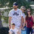 Exclusif - Justin Timberlake et sa femme Jessica Biel sont allés soutenir leur fils Silas Randall Timberlake à son entrainement de baseball à Los Angeles. K. Biel, la mère de J. est de la partie le 29 octobre 2019.