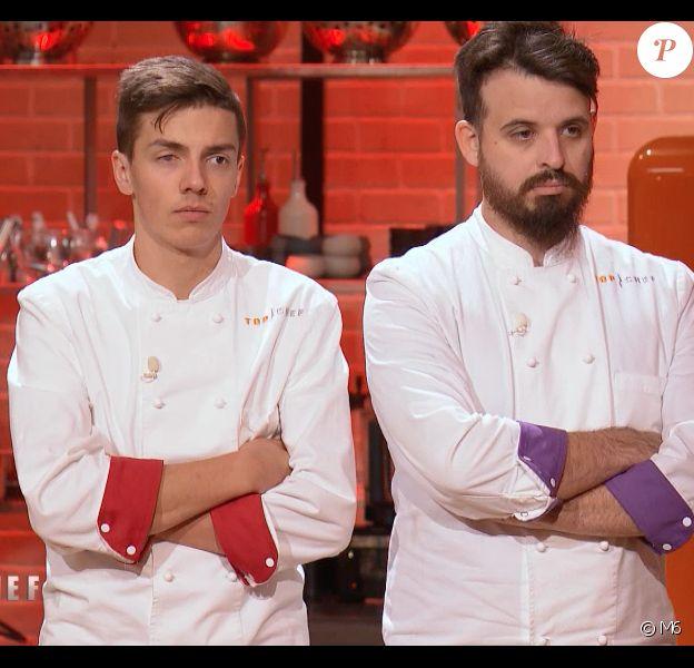 """Mallory et Adrien - Episode de la guerre des restos dans """"Top Chef 2020"""" sur M6, le 29 avril 2020."""