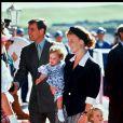 Sarah Ferguson et ses filles Beatrice et Eugenie à Aberdeen en 1991.