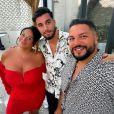 Sarah Fraisou avec son compagnon Ahmed et son frère Billel, le 28 juin 2020, sur Instagram
