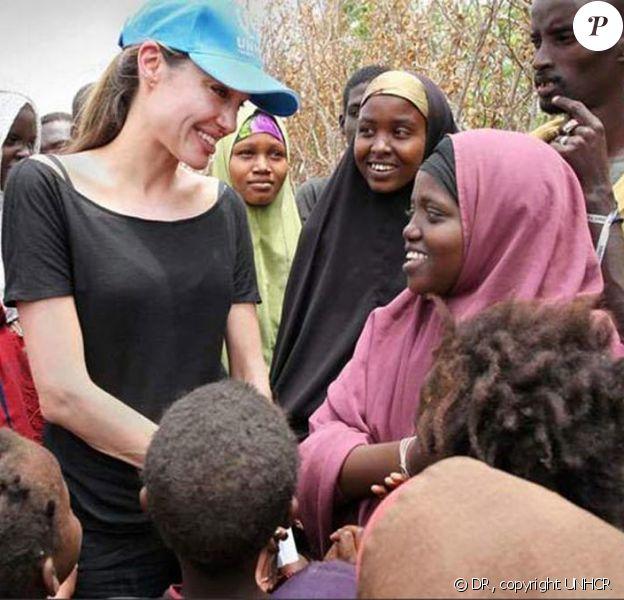 Angelina Jolie dans le camp de réfugiés au Kenya
