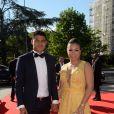 Exclusif - Thiago Silva et sa femme Isabele - Dîner de gala au profit de la Fondation PSG au Parc des Princes à Paris le 16 mai 2017. © Rachid Bellak/Bestimage