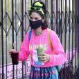 """Exclusif - Soko est allée acheter un smoothie à emporter chez """"Naturewell Juice Bar"""" à Silverlake, Los Angeles, le 6 juillet 2020."""