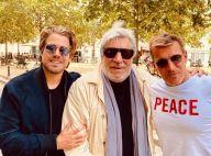Benjamin et Giovanni Castaldi réunis : rare photo avec leur père Jean-Pierre