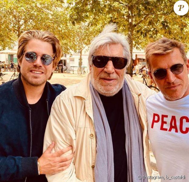 Benjamin Castaldi et son demi-frère Giovanni passent la journée avec leur père Jean-Pierre Castaldi - Instagram, 26 juillet 2020