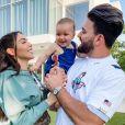 Nabilla Benattia avec Thomas Vergara et Milann, Instagram, le 22 mai 2020