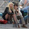 La craquante Taylor Momsen sur le tournage de la série  Gossip Girl , près du Metropolitan Museum, à New York, le 14 septembre 2009 !