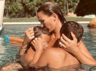 Vitaa en vacances : baignade avec ses deux fils, Liham et Adam