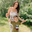 Kelly Helard avec son fils Lyam, le 9 juillet 2020, sur Instagram