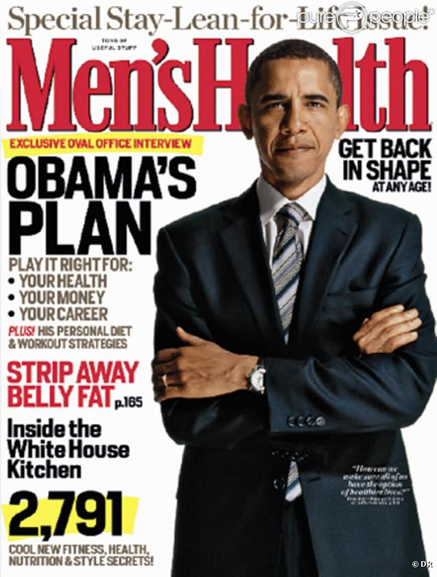 Barack Obama en couverture de Men's Heatlh