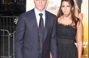 Matt Damon aux côtés de son épouse Luciana... un vrai beau mec aminci !