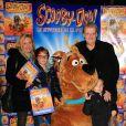 """Guy Carlier et sa femme Josephine 'reconcilies suite a leur separation' avec leur fils Antoine et le fils de Josephine Federico - Premiere """"Scooby Doo 2"""" aux Folies Bergeres a Paris le 18 Novembre 2012."""