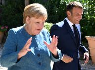 Emmanuel Macron : Joyeuses retrouvailles avec Angela Merkel à Brégançon