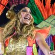 """Exclusif - Cathy Guetta défile sur le char de l'école de samba """"Academicos do Grande Rio"""" lors du carnaval de Rio de Janeiro, Brésil, le 4 mars 2019 © Denis Raphaël/Carnavalderio.fr/Bestimage"""