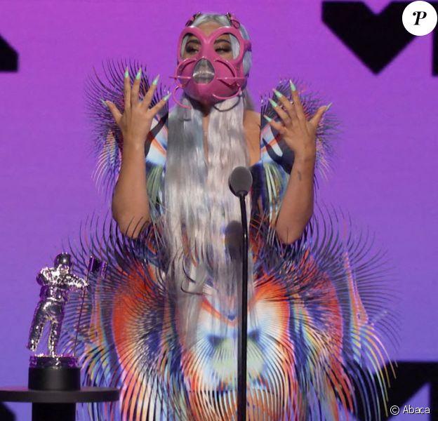 Lady Gaga - Cérémonie des MTV Video Music Awards, le 30 août 2020, à New York.