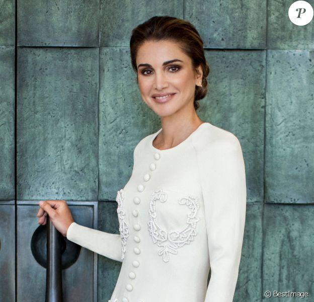 Portrait officiel de la reine Rania de Jordanie à l'occasion de son anniversaire (50 ans) célébré le 31 août 2020.