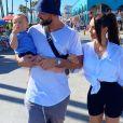 Nabilla Benattia et Thomas Vergara avec leur fils Milann dans les rues de Los Angeles, le 8 août 2020