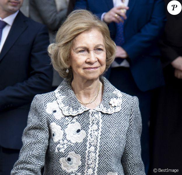 La reine Sofia se rend à la Basilique Nuestro Padre Jesús de Medinaceli à Madrid, 2020.