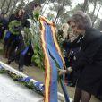Le prince Felipe, la princesse Letizia, l'infante Elena, la reine Sofia, l'infante Cristina d'Espagne et le prince Alexandre de Serbie - Cérémonie au cimetière du Palais Tatoi en présence des membres des familles royales de Grèce et d'Espagne à Athènes, le 6 mars 2014. Dans ce cimetière sont enterrés les membres de la famille grecque depuis 1913.