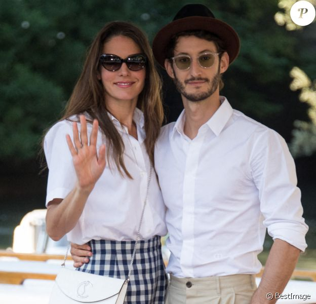 Pierre Niney et sa compagne Natasha Andrews - People à Venise pour la 77ème édition du festival international du film de Venise (Mostra), début septembre 2020